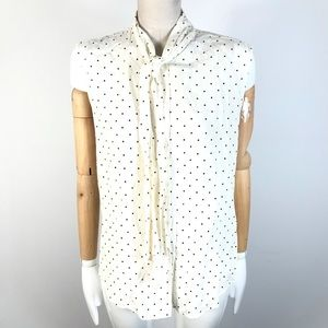 Uniqlo polka dots sleeveless top